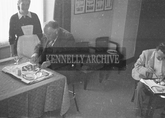 1953; People Enjoying A Meal At The Royal Hotel On Valentia Island.