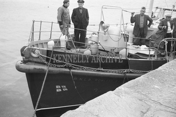 1953; A Photo Of The Rowland Watts Life Boat And Crew At Valentia Pier.