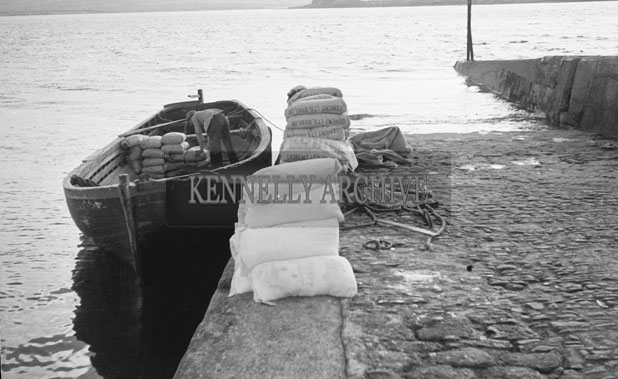 1953; A Photo Of Boat At Valentia Pier.