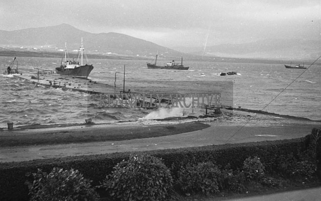 1953; A Photo Of Boats Off Valentia Island.