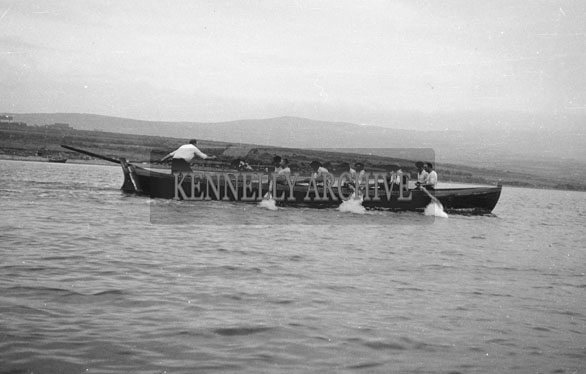 1953; A Photo Of A Rowing Boat And Crew Off Valentia Island.