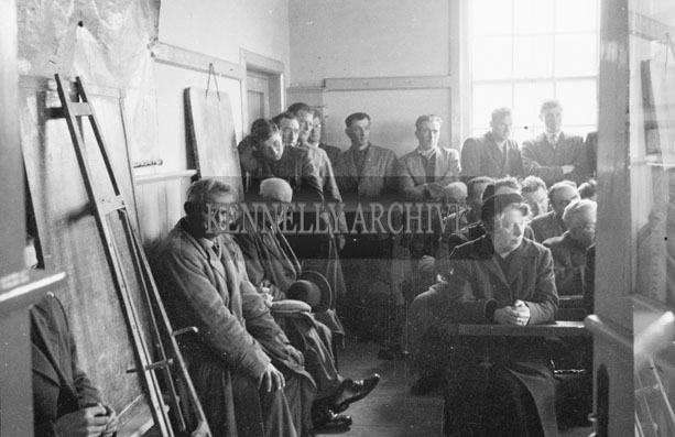 1953; A Gathering For A Meeting On Valentia Island.
