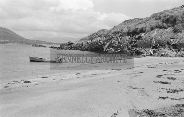 1953; A Scenic View Of The Beach At Valentia Island.