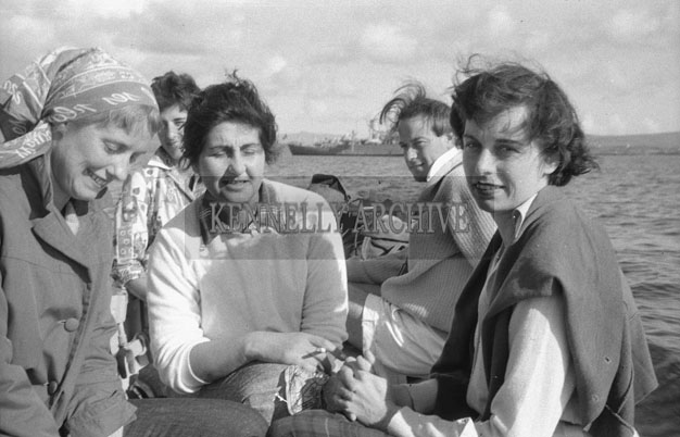 1953; A Group Of People Enjoying Themselves On A Boat Trip Off Valentia Island.