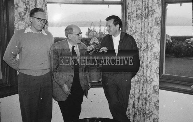 1953; Three Men Indoors On Valentia Island.