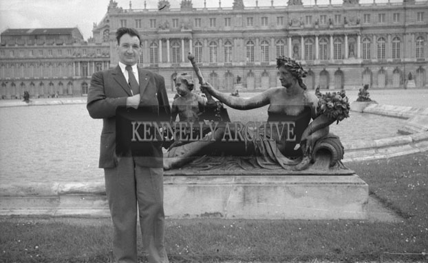 1953; Norman Ross, Valentia, at the Palace of Verseilles In Paris, France.