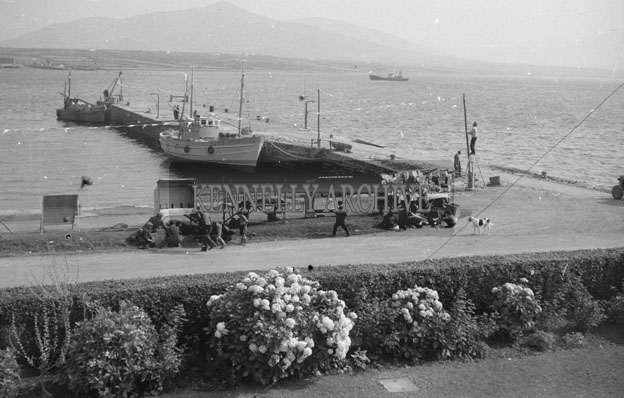1953; Market Day On Valentia Island Pier.