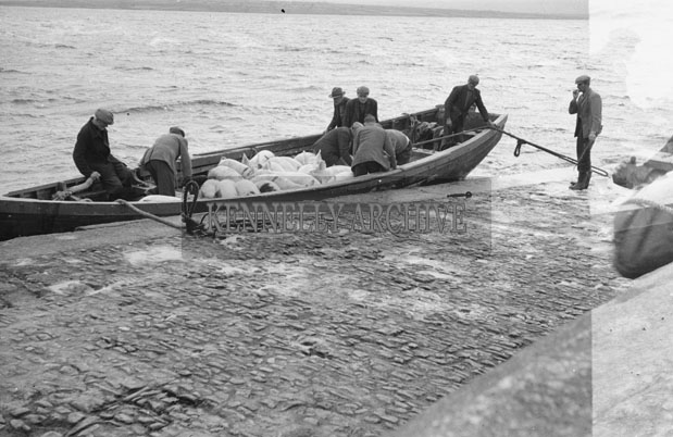 1953; People On The Valentia Island Ferry.