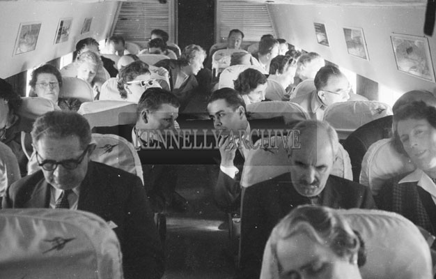 1953; People On 'The Skyway Of London' Plane On Their Way To Paris, France.