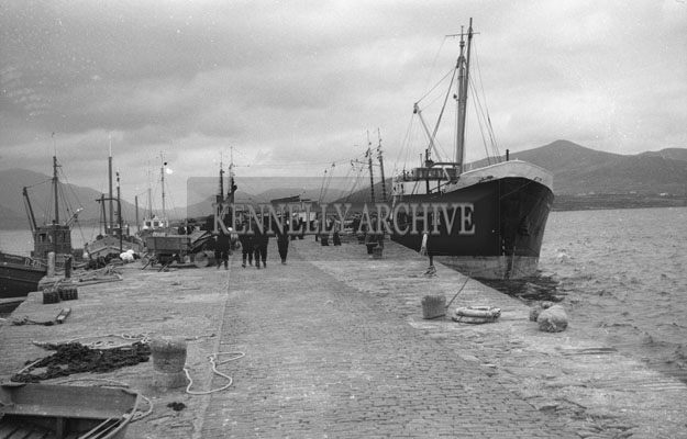 1953; A Photo Of A Ship At Valentia Pier.