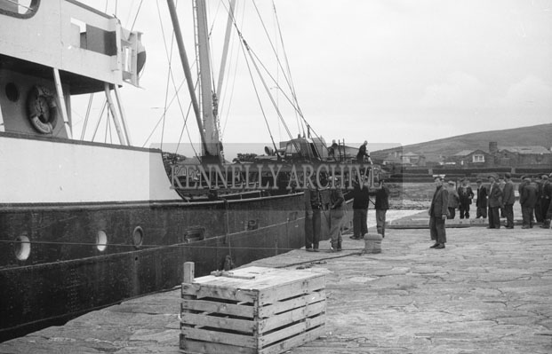 1953; A Photo Of A Ship At Valentia Pier.