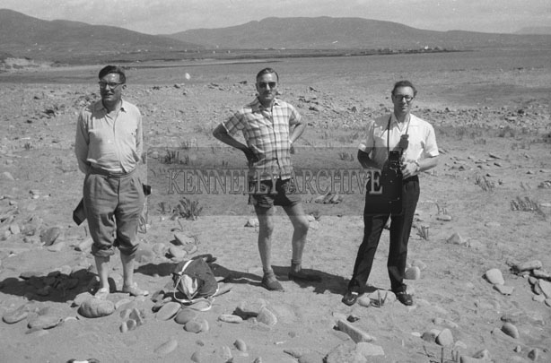 1953; Three Men Enjoying Themselves On The Beach On Valentia Island.