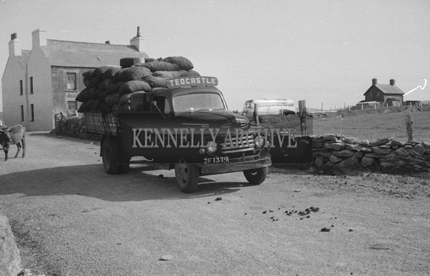 1953; A Truck Loaded With Goods On Valentia Island.