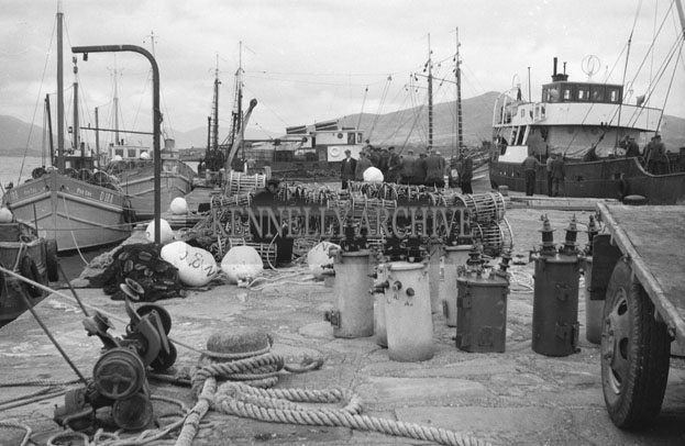 1953; A Busy Day At Valentia Pier.