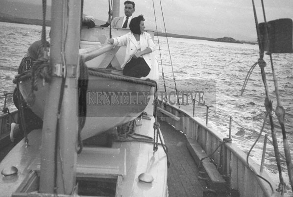 1953; Norman Ross (centre) Enjoying A Boat Trip Off Valentia Island.