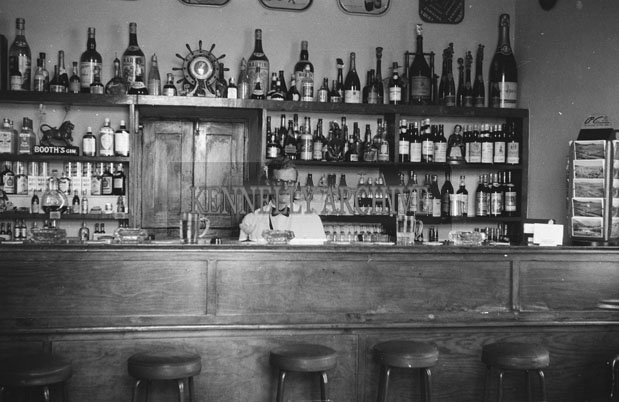 1953; A Photo Of The Bar And Barman Of The Royal Hotel On Valentia Island.