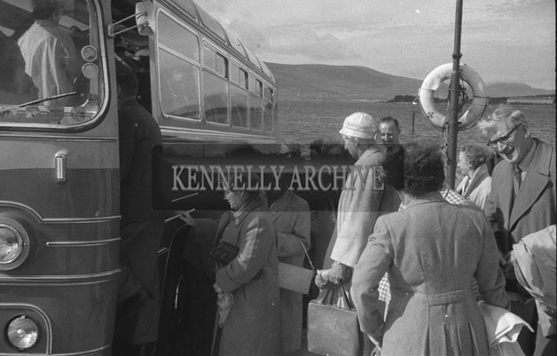 1953; People On A Bus Tour On Valentia Island.