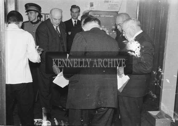 1953; A Photo Of A Group Of Businessmen Indoors On Valentia Island.