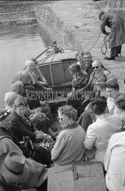 1953; A Photo Of People On Valentia Island Ferry.
