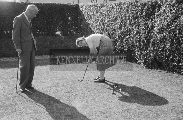 1953; A Photo Of A Couple Playing Mini-Golf In The Gardens Of The Royal Hotel On Valentia Island.