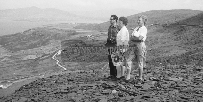 1953; A Man And Two Ladies Admiring The View At Valentia Island.
