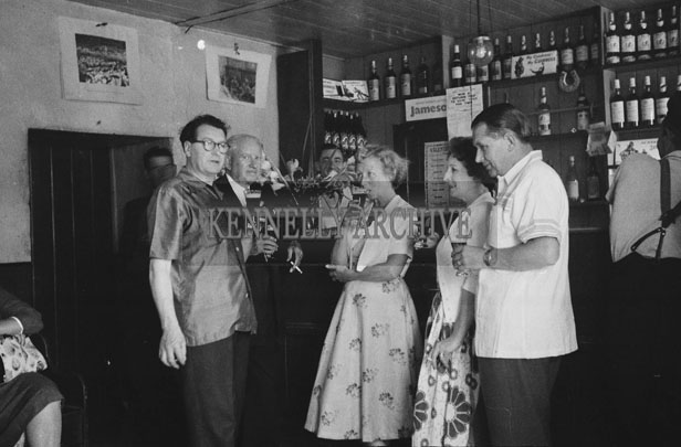 1953; A Group Of People Enjoying Themselves In The Bar Of The Royal Hotel On Valentia Island.