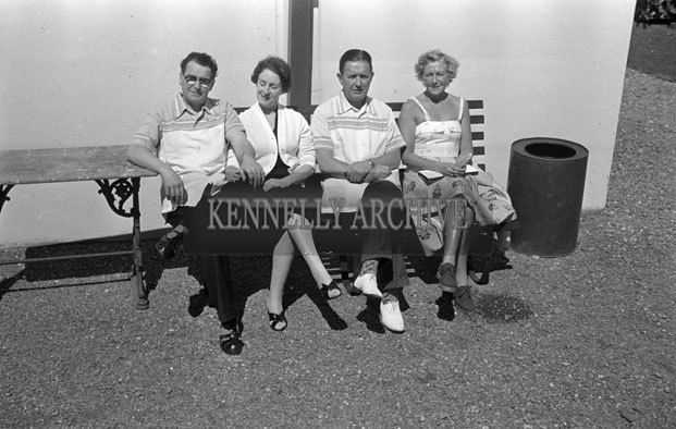 1953; A Group Of People Relaxing In The Garden Of The Royal Hotel On Valentia Island.