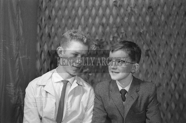 1953; A Studio Photo Of Two Boys.