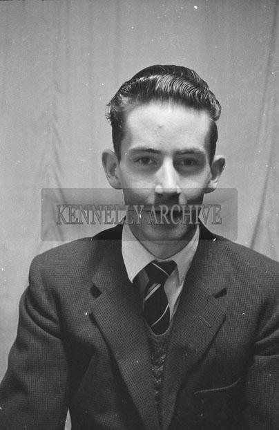 1953; A Studio Photo Of A Man.