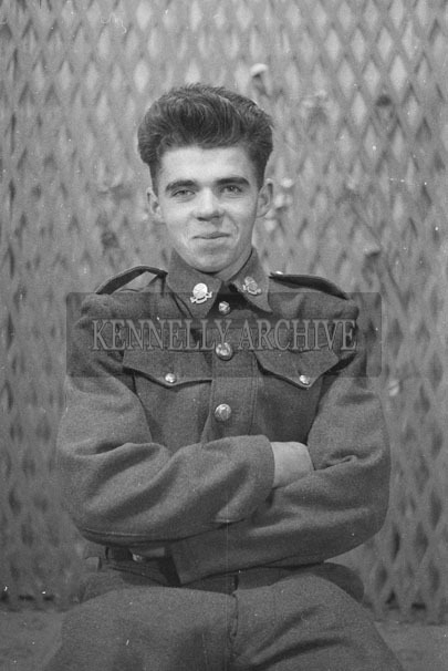 1953; A Studio Photo Of A Man in Uniform.