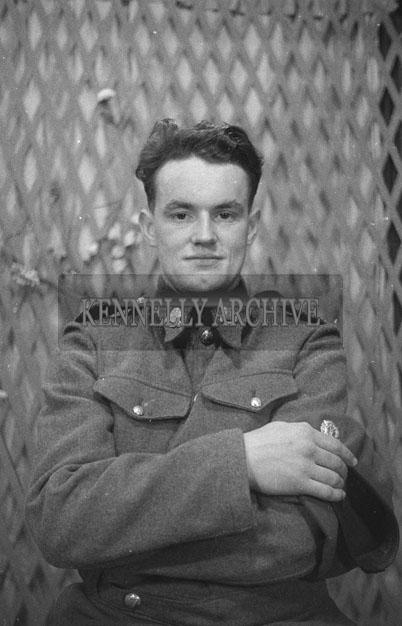 1953; A Studio Photo Of A Man in Uniform.
