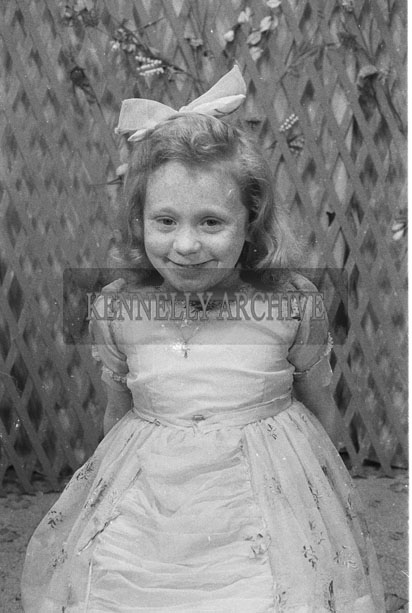 1953; A Studio Photo Of A Girl.