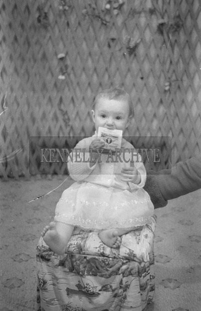 1953; A Studio Photo Of A Baby