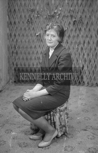 1953; A Studio Photo Of A Woman.