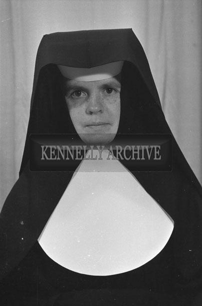 1953; A Studio Photo Of A Nun Posing For The Camera.