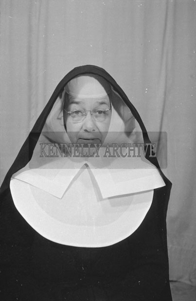 1953; A Studio Photo Of A Nun Posing For The Camera.