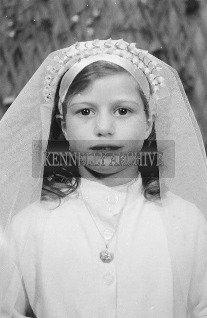 1953; A Studio Photo Of A Confirmation Girl Posing For The Camera.