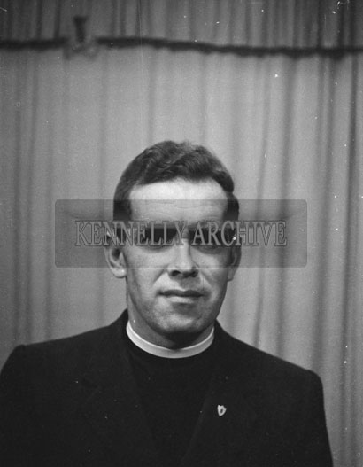 1953; A Studio Photo Of A Priest.