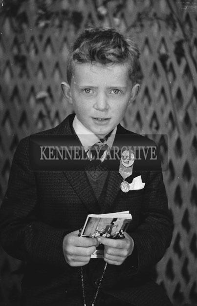 1953; A Studio Photo Of A Communion/Confirmation Boy.
