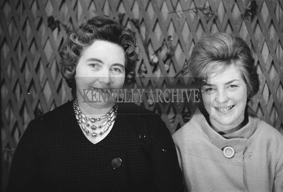 1953; A Studio Photo Of Two Women.