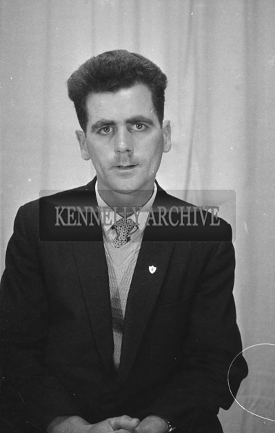 1953; A Studio Photo Of A Man Posing For The Camera.