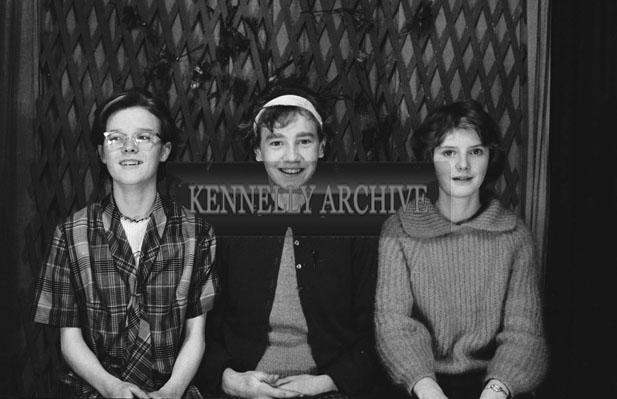 1953; A Studio Photo Of A Three Girls.