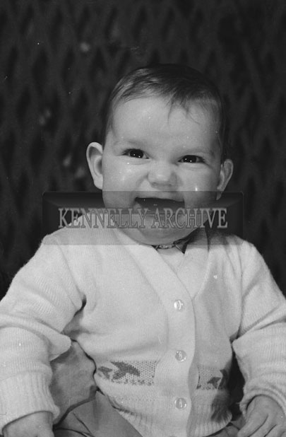 1953; A Studio Photo Of A Baby.