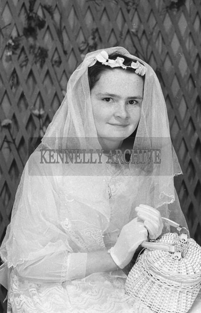 1953; A Studio Photo Of A Confirmation Girl.