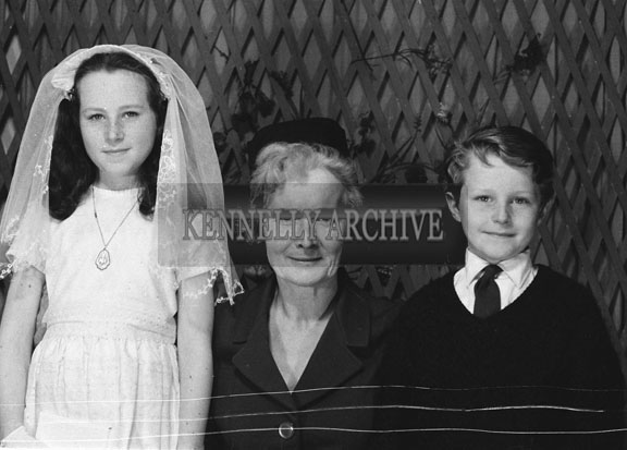 1953; A Studio Photo Of A Confirmation Girl With Her Family..