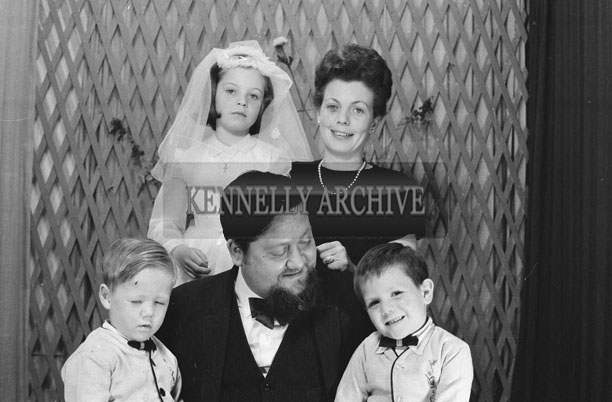 1953; A Studio Photo of Ernie and Miriam Evans and Family on Caragh Evans' First Holy Communion.
