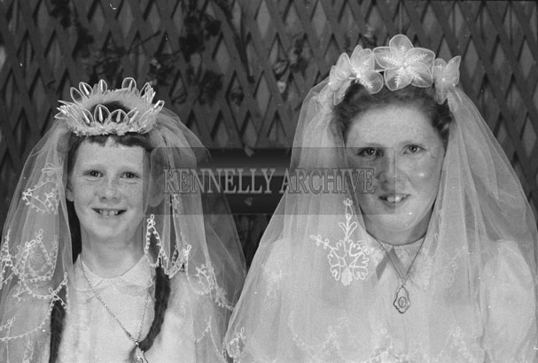1953; A Studio Photo Of Two Communion/Confirmation Girls.