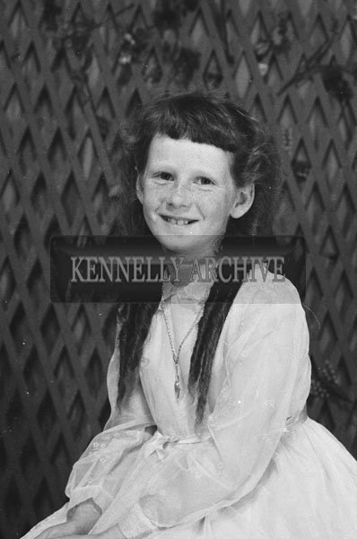 1953; A Studio Photo Of A Communion/Confirmation Girl.
