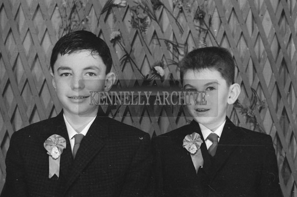 1953; A Studio Photo Of Two Confirmation Boys.