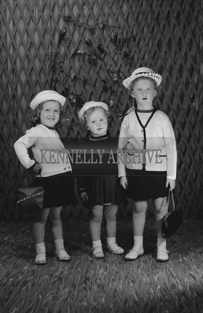 1953; A Studio Photo Of Three Children From A Family.